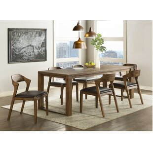 Bourgoin 7 Piece Drop Leaf Solid Wood Dining Set
