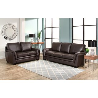 Whitstran 2 Piece Leather Living Room Set by Darby Home Co SKU:EA351074 Price Compare