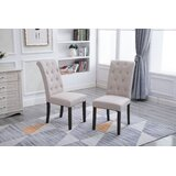 Serpa Tufted Linen Upholstered Parsons Chair (Set of 2) by Darby Home Co