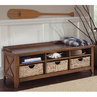 Methuen Wood Storage Bench By Loon Peak