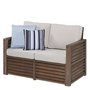 Hollo Deep Seating Loveseat with Cushions by Bay Isle Home