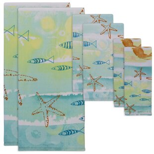 Burl By the Sea 6 Piece Cotton Towel Set