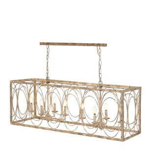 Cawston Rustic Rectangular Iron 8-light Candle Chandelier