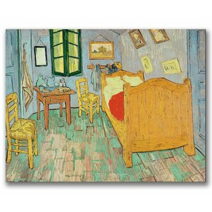 Van Gogh s Bedroom at Arles  by Vincent van Gogh Painting Print on Wrapped  Canvas   Vincent Van Gogh Wall Art You ll Love   Wayfair. The Bedroom Van Gogh Painting. Home Design Ideas