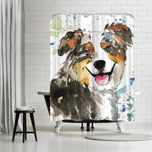 Allison Gray Crosby Shower Curtain