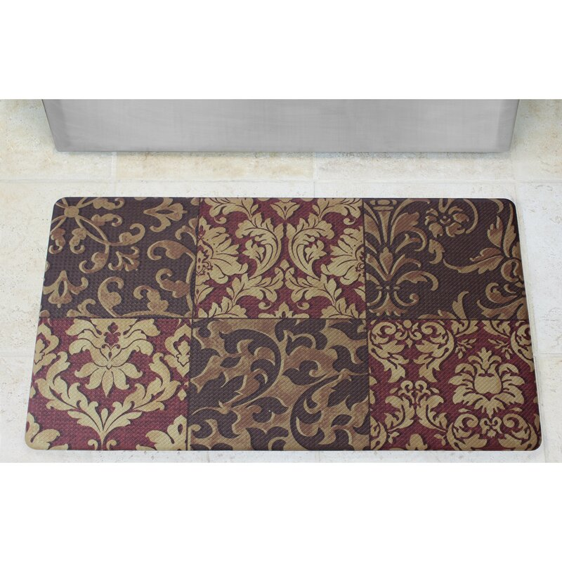 Exceptionnel Anti Fatigue Basket Weave Printed Memory Foam Comfort Kitchen Mat