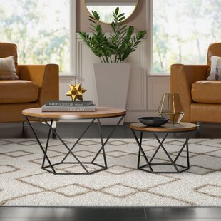 Dunavant Wood 2 Piece Coffee Table Set