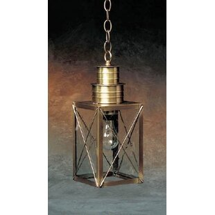 Affordable Price 200 Series 1-Light Outdoor Hanging Lantern By Brass Traditions