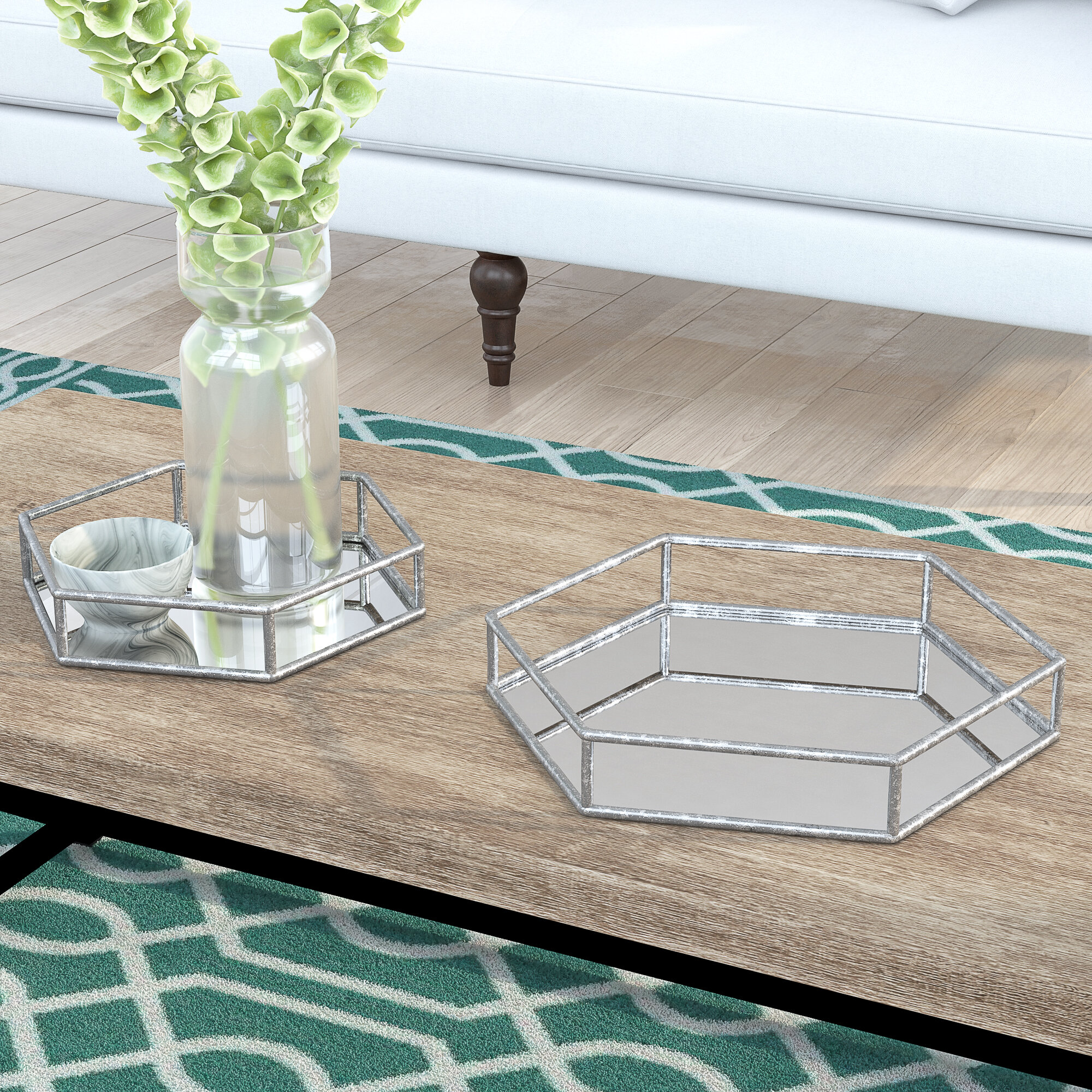 Large Silver Decorative Trays You Ll Love In 2021 Wayfair