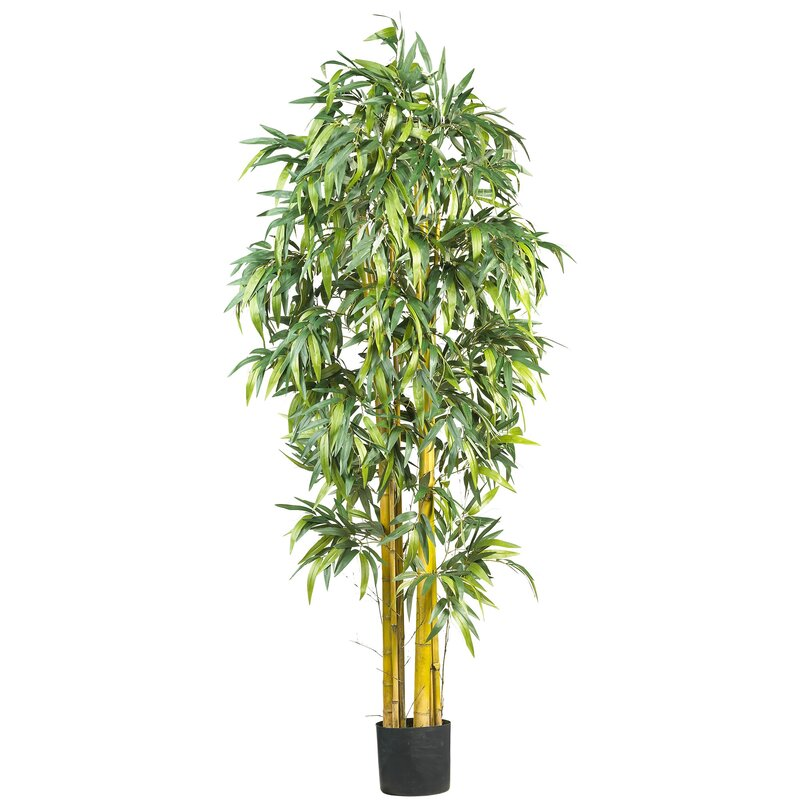 Nearly Natural Big Bamboo Tree In Pot Amp Reviews Wayfair
