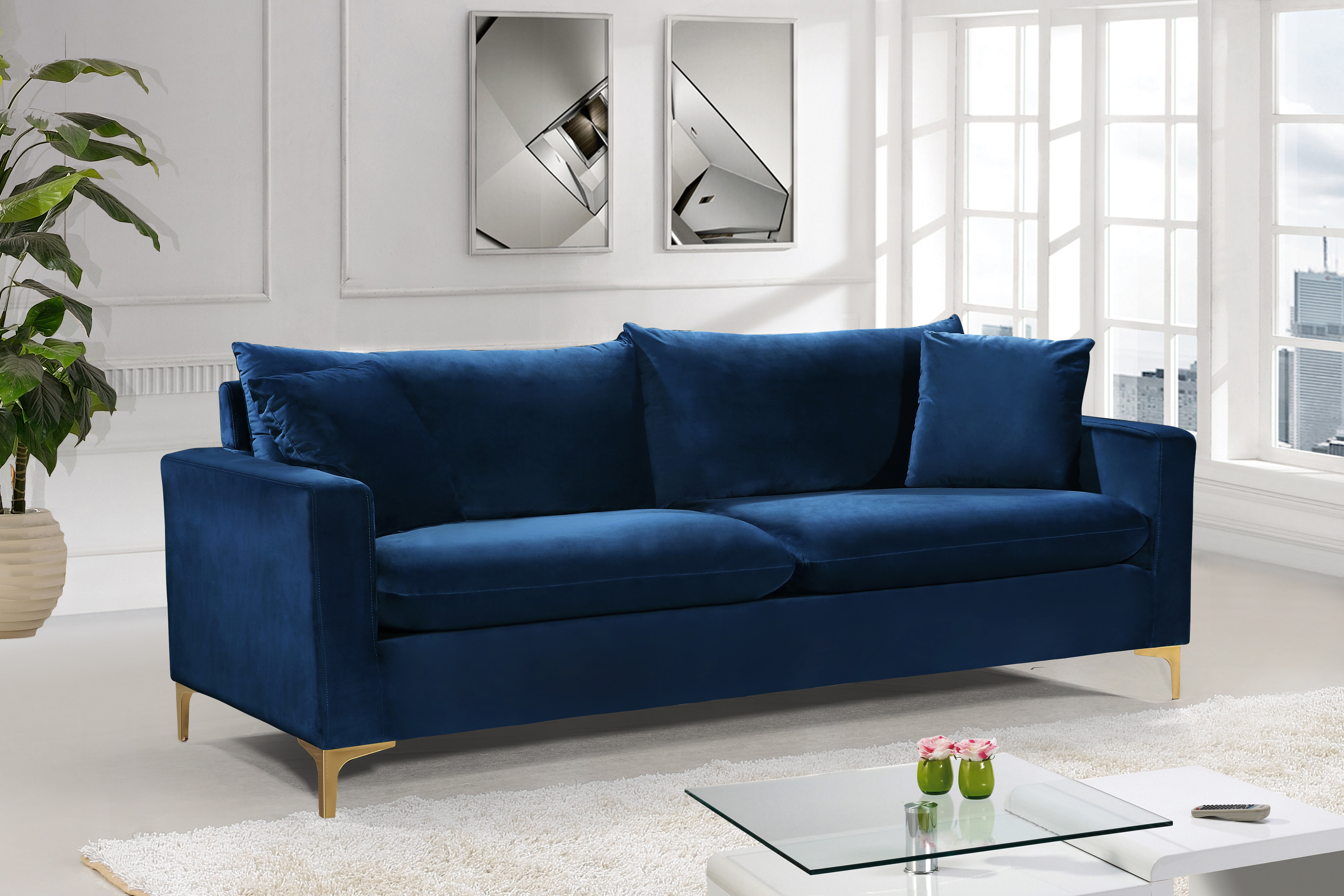 Blue Sofas & Couches You