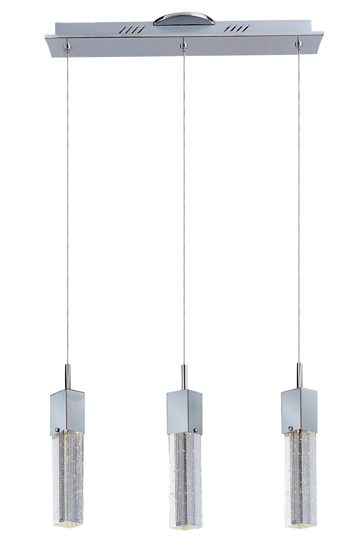 Orren Ellis Diphda 3 Light Kitchen Island Square Rectangle Led Pendant Wayfair