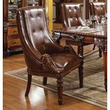 Wheless Tufted Upholstered Manufactured Wood Side Chair in Brown by Astoria Grand