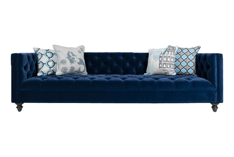 Navy Chesterfield Sofa