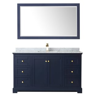 Avery 60 Single Bathroom Vanity Set with Mirror by Wyndham Collection