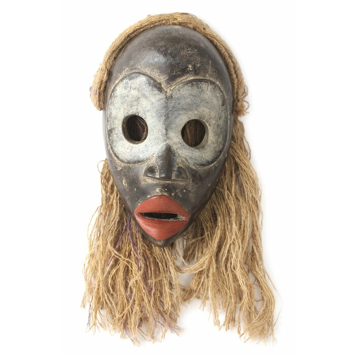 Hand Carved Dan Tribe African Mask Wall Décor