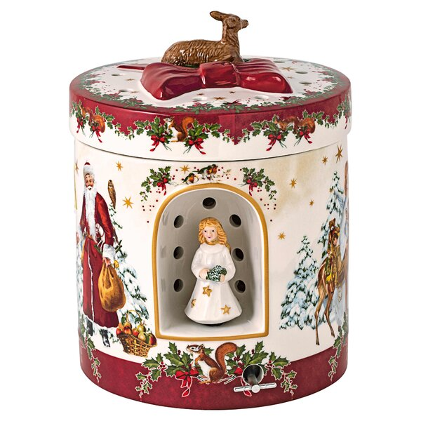 Xmas Christmas Round Tin Box Cookie Jar Xmas Socks Storage Gift Box Canister