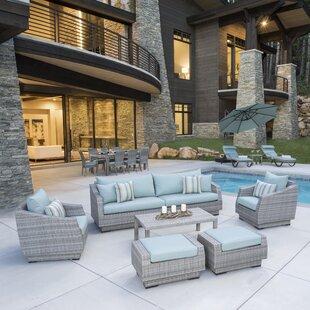 Castelli Patio 20 Piece Sofa Set with Cushions ByWade Logan