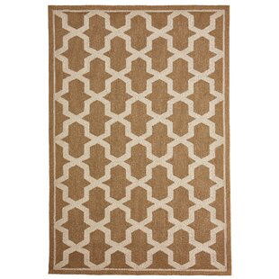 Enoch Geometric Hand-Woven Camel Indoor/Outdoor Area Rug