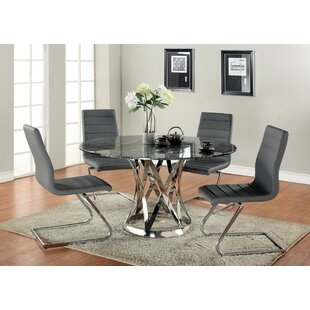 Elkin 5 Piece Dining Set Latitude Run