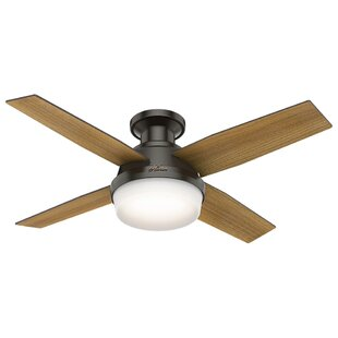 Small room ceiling fans youll love wayfair 44 dempsey low profile 4 blade ceiling fan with handheld remote and light aloadofball Gallery