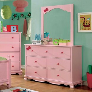Dani 7 Drawer Double Dresser With Mirror by A&J Homes Studio Modern