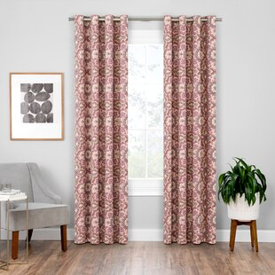 Soleil Floral/Flower Blackout Grommet Single Curtain Panel by Bungalow Rose