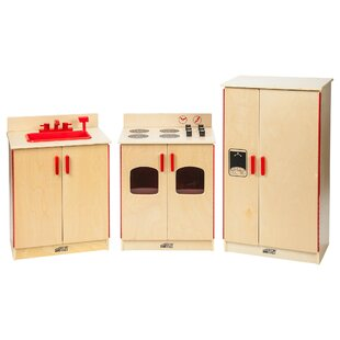 Birch 3-Piece Play Kitchen Set by ECR4kids
