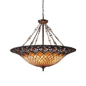 Almeda 6-Light Tiffany Inverted Pendant