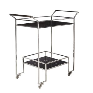 Charlaine Steel Bar Cart by Orren Ellis