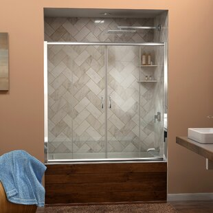 Compare Visions 60 x 58 Double Sliding Frameless Tub Door By DreamLine