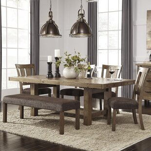 Etolin 6 Piece Extendable Dining Set & Large Kitchen Table With Bench | Wayfair