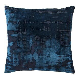 Brushstroke Velvet Throw Pillow