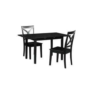 Spiller 3 Piece Extendable Solid Wood Dining Set