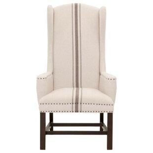 Brian Large Nail Tacks And Jute Upholstery Wingback Chair (Set Of 2)