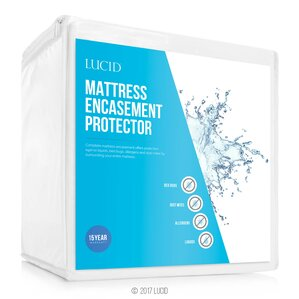 Encasement Hypoallergenic Waterproof Mattress Protector by Lucid