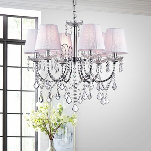 Annette 6-Light Crystal Chandelier