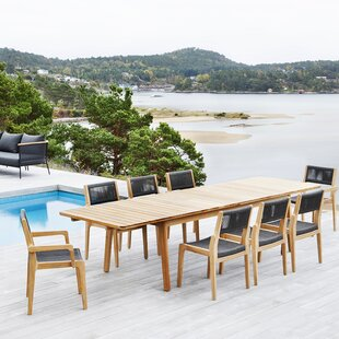 Skagen 9 Piece Extendable Dining Set OASIQ