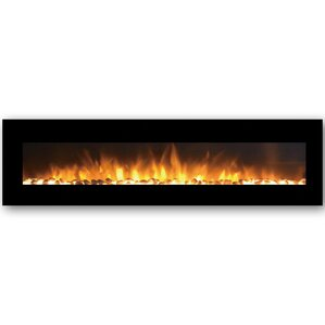 Andres Black Wall Mount Electric Fireplace by Orren Ellis