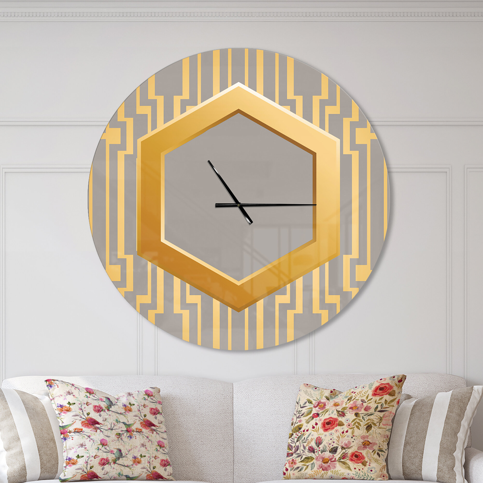 East Urban Home Vintage And Shabby Elegance Wall Clock Wayfair