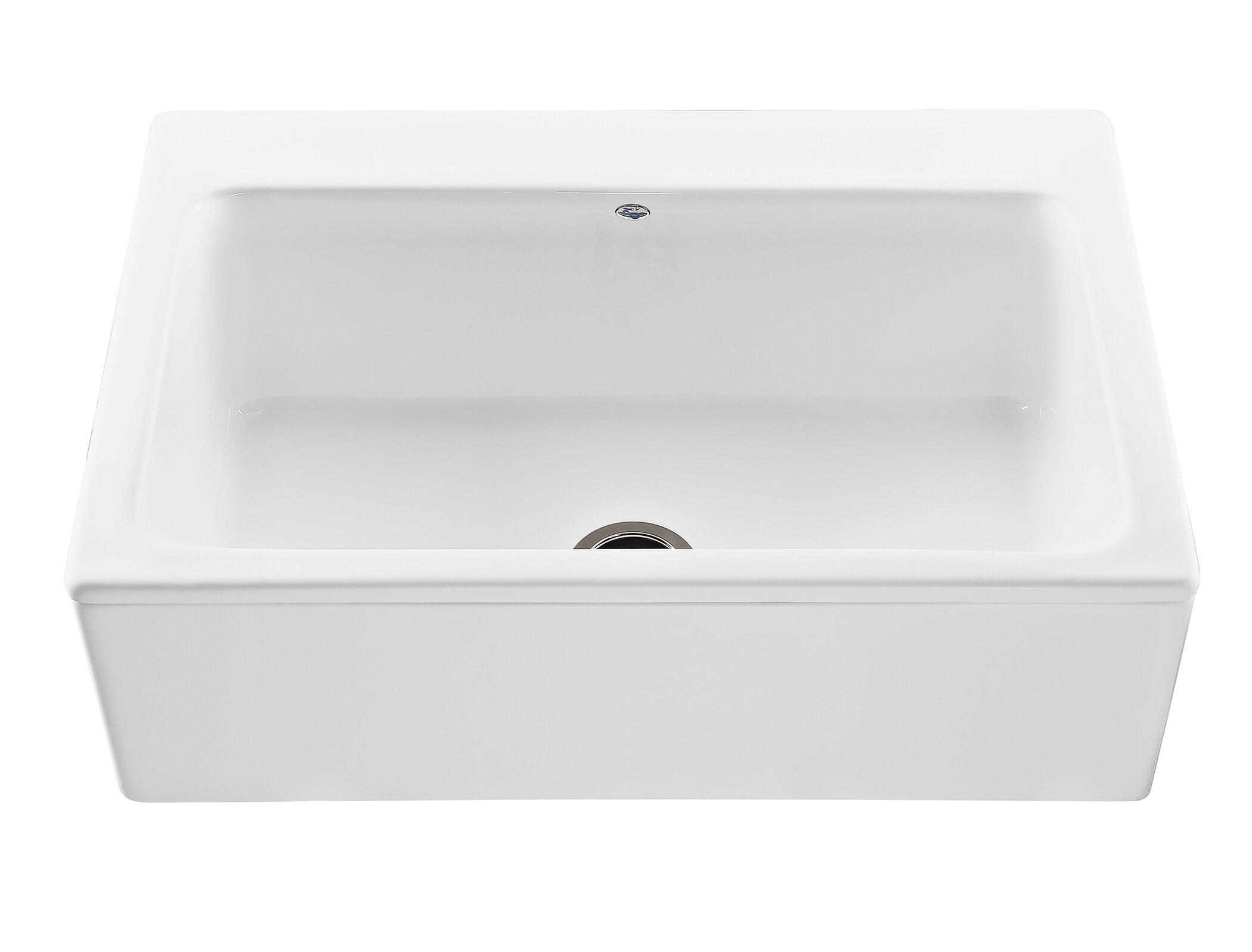 Picture of: Reliance Mccoy 33 L X 22 25 W Farmhouse Apron Kitchen Sink Reviews Allmodern