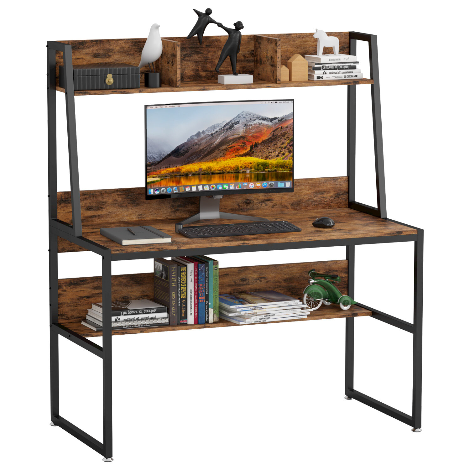 17 Stories Emberly Desk With Hutch Reviews Wayfair