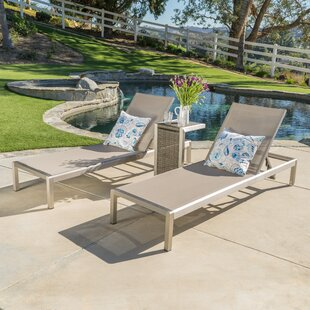 Royalston Sun Lounger Set with Table