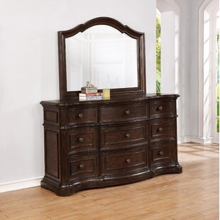 Aminah 9 Drawer Dresser With Mirror by DarHome Co Fresh