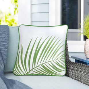 Hamburg Embroidered Palm Decorative Cotton Throw Pillow