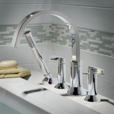 Beale Tub Filler with Lever Handle and Personal Shower American Standard Color: Polished Chrome