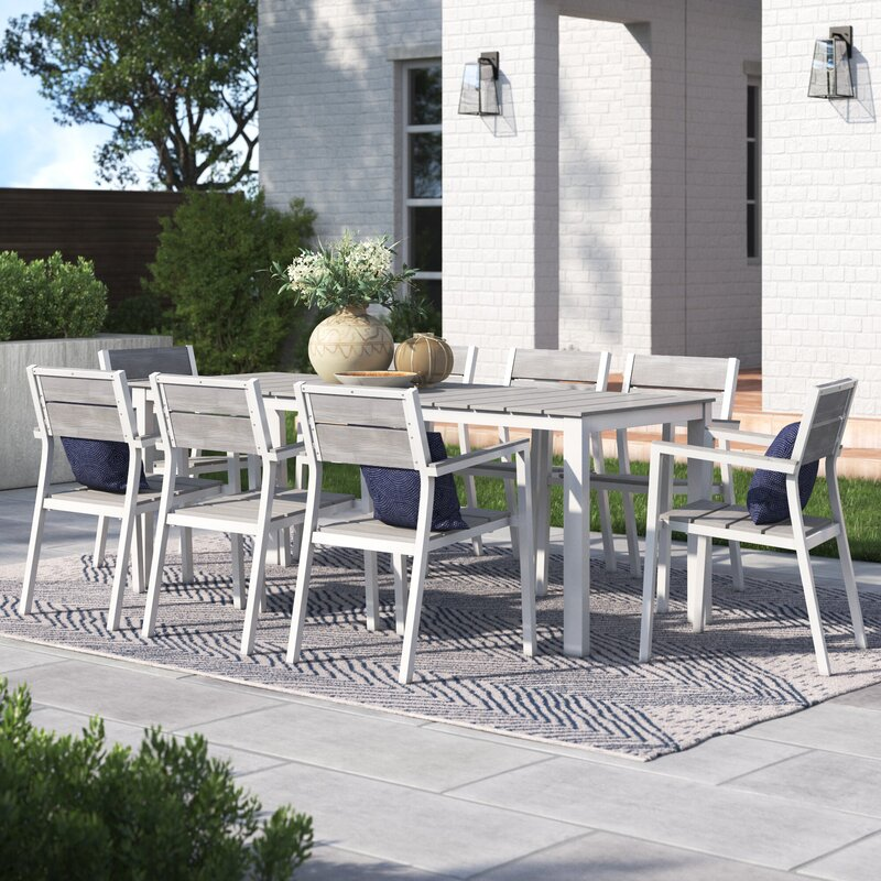 Roswell 9 Piece Outdoor Patio Dining Set Reviews