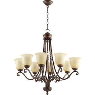 Tribeca 8-Light Shaded Chandelier by Quorum