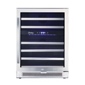 46 Bottle Connoisseur Dual Zone Convertible Wine Cooler by Vinotemp