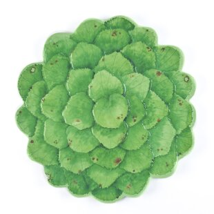 Galax Melamine Leaf Platter